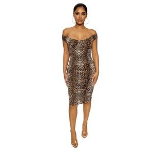 New naked wardrobe leopard GET A LITTLE WILD DRESS